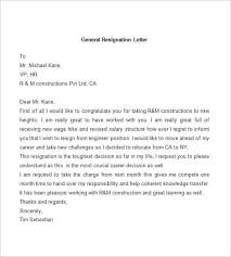 general letter format gallery of resignation letter template 38 free word pdf documents