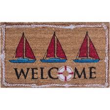 Hawaiian Doormats Nautical Doormat Coastal And Beach Themed Doormats