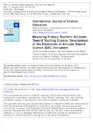 measuring primary teachers u0027 attitudes toward teaching science