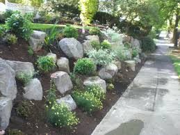 Rock Gardens On Slopes Boulders Rock In The Garden Precision Landscape Services