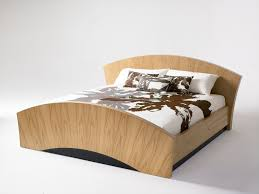 Modern Wood Bed Designs 2016 Awesome Bright Wooden Bed With Unique Modern Shaped Design Ideas