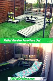 Pallet Furniture Patio by Diy Pallet Garden And Patio Furniture Set