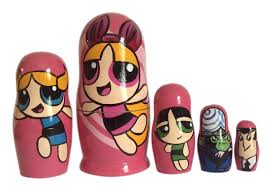 nesting doll powerpuff girls free worldwide shipping