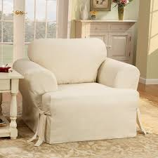 Chair And A Half Slip Cover Impressive Sure Fit Cotton Duck Armchair T Cushion Slipcover