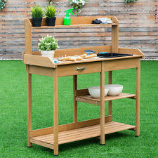 Outdoor Potting Bench With Sink Garden Potting Bench Ebay