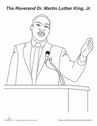 10 Martin Luther King Jr Printables Education Com Dr Martin Luther King Jr Coloring Pages