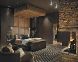 appealing bedroom with fireplace for calmness rest myohomes