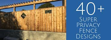 privacy fence designs u2013 40 super private fence ideas jay fencing