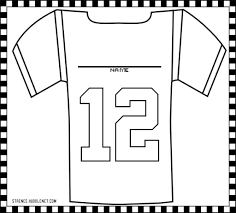 the brilliant football jersey coloring page intended to inspire to