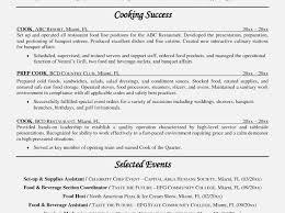 high resume summary exles cook objective resume exles beautiful cook resume summary