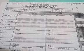 how to correct erroneous entries in marriage certificate