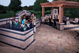 Stone Top Patio Table by How To Extend Your Patio Season Unilock