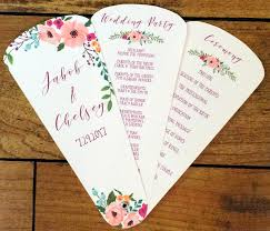 fan programs for weddings wedding program fan petal fan programs wedding fan floral
