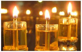 chanuka candles of chanukah