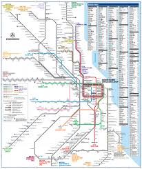 Map Metro Chicago by Official Map Chicago Regional Transportation Transit Maps