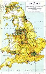 England Map Cities by Britain Industrial Revolution Google Search Large Cities In
