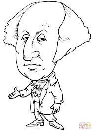 george washington caricature coloring page free printable