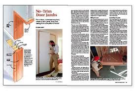 Building Interior Doors No Trim Door Jambs Fine Homebuilding