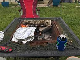 couldn u0027t get a campsite this weekend so campfire cooking in the