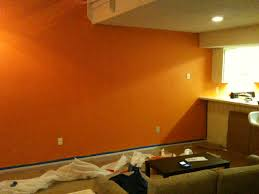 modern home interior orange color painting ideas for painting walls