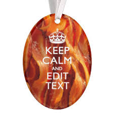 bacon ornaments keepsake ornaments zazzle