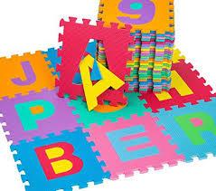 tappeti puzzle tectake tappetino tappeto puzzle lettere gomma schiuma set 86