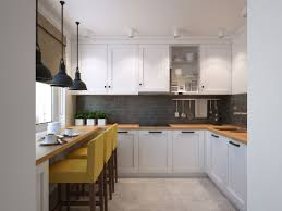 small u shaped kitchen with ample storage space decoist