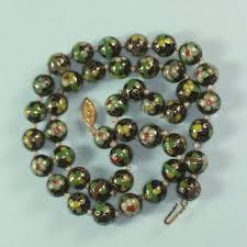 vintage beads necklace images Shop vintage porcelain bead necklace on wanelo jpg