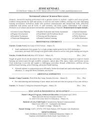 Preschool Teacher Resume Objective Objective For A Teacher Resume Haadyaooverbayresort Com Best