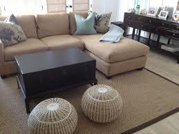Area Rug On Carpet Decorating Sisal Area Rug Brown Microfiber Binding Traditional Living