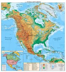 central america physical map detailed physical map of and central america america