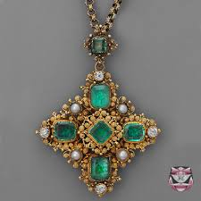 antique emerald necklace images Fay cullen archives necklaces antique georgian emerald necklace jpg