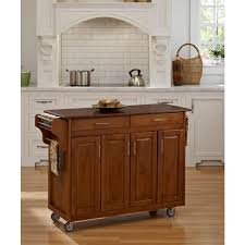 home styles create a cart warm oak kitchen cart with towel bar