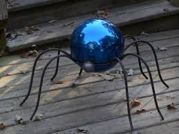 Garden Gazing Globes Wrought Iron Spiders Gazing Ball Holders Pot Holders In 2 Sizes