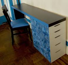 Standing Office Desk Ikea by I Made A Slim Desk From A Cut Up Malm Headboard And Vika Alex