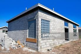 how to build a concrete block house preparation is being done to face the concrete block with stucco