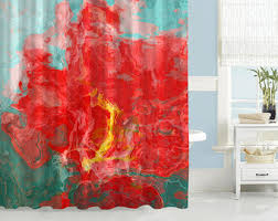 Shower Curtain Contemporary Contemporary Shower Curtain Abstract Art Bathroom Decor