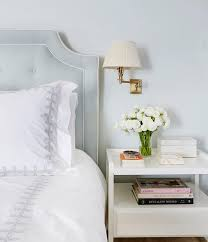 Grey Tufted Headboard Blue Gray Tufted Headboard With White Nightstand Transitional