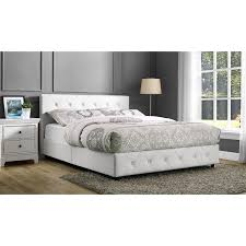 White Leather Platform Bed Dhp Dakota Upholstered Bed Hayneedle