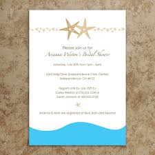 bridal shower invitations bridal shower invitations beach themed