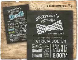 baby shower invitation bow tie little man baby shower
