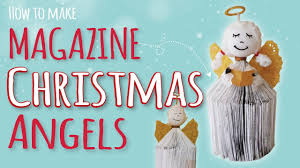 christmas craft for kids how to make a magazine angel diy