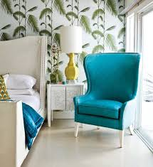 tropical colors for home interior modern bedroom with tropical wallpaper green ideas beautify the