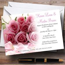 wedding invitations rose baby pink roses personalised wedding invitations the card zoo