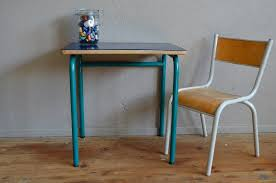 Small School Desk Blue School Desk Chair 1960s For Sale At Pamono Pertaining To