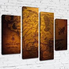 Lord Of The Rings Map Mpm191 The Lord Of The Rings The Realm Of Middle Earth Map Framed