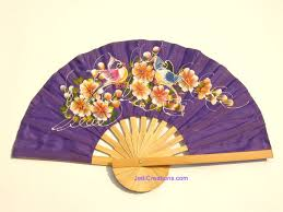 folding fans rayon folding fan wedding fan with two birds in flowers