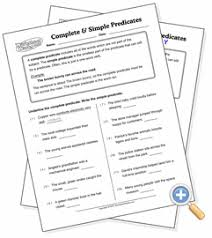 complete and simple predicates worksheetworks com