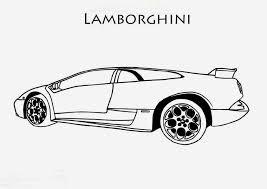 coloriage lamborghini les beaux dessins de transport à imprimer