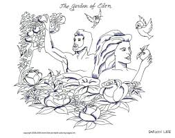 articles with garden of eden coloring pages free printable tag